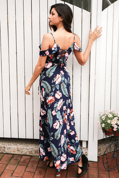 Haylee Floral Wrap Maxi Dress