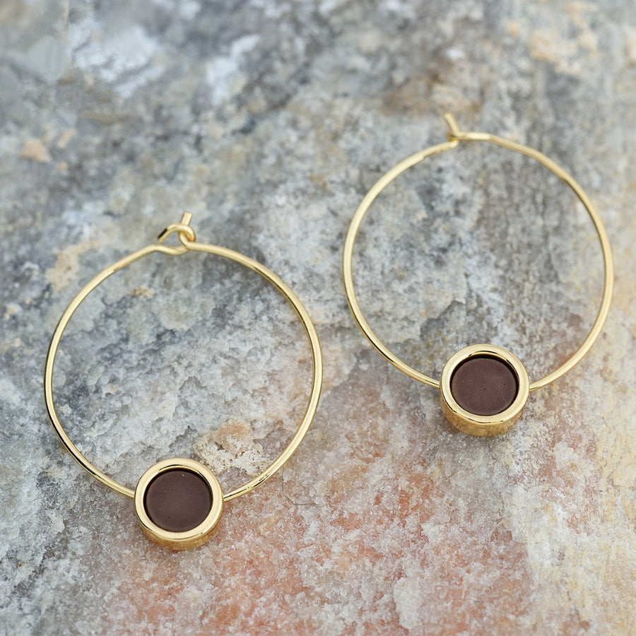 Aubergine Hoop Earrings