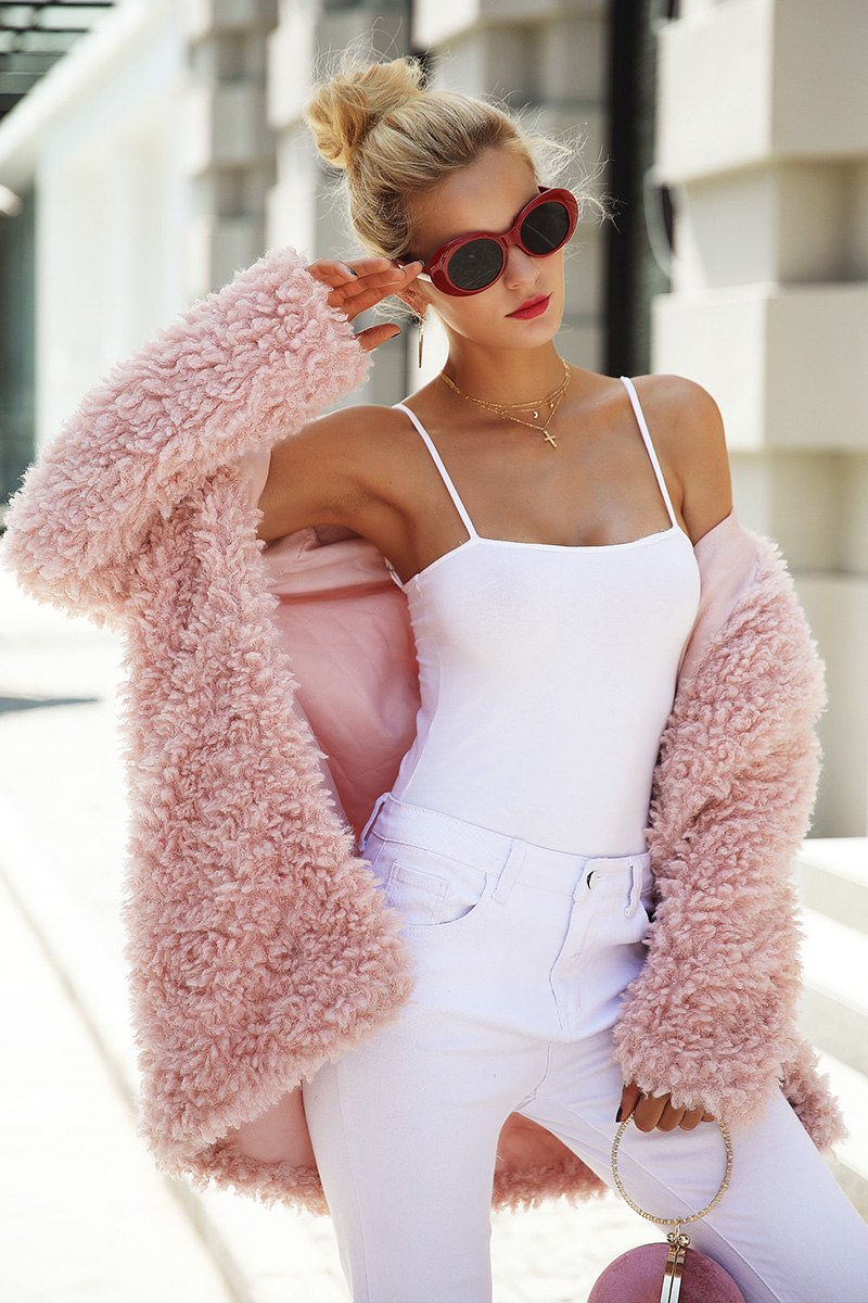 Pink Plush Teddy Jacket