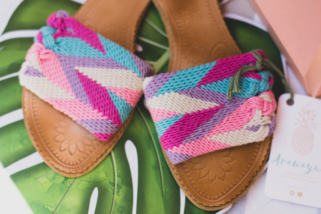 Boho-Chic Wayuu Slide Sandals