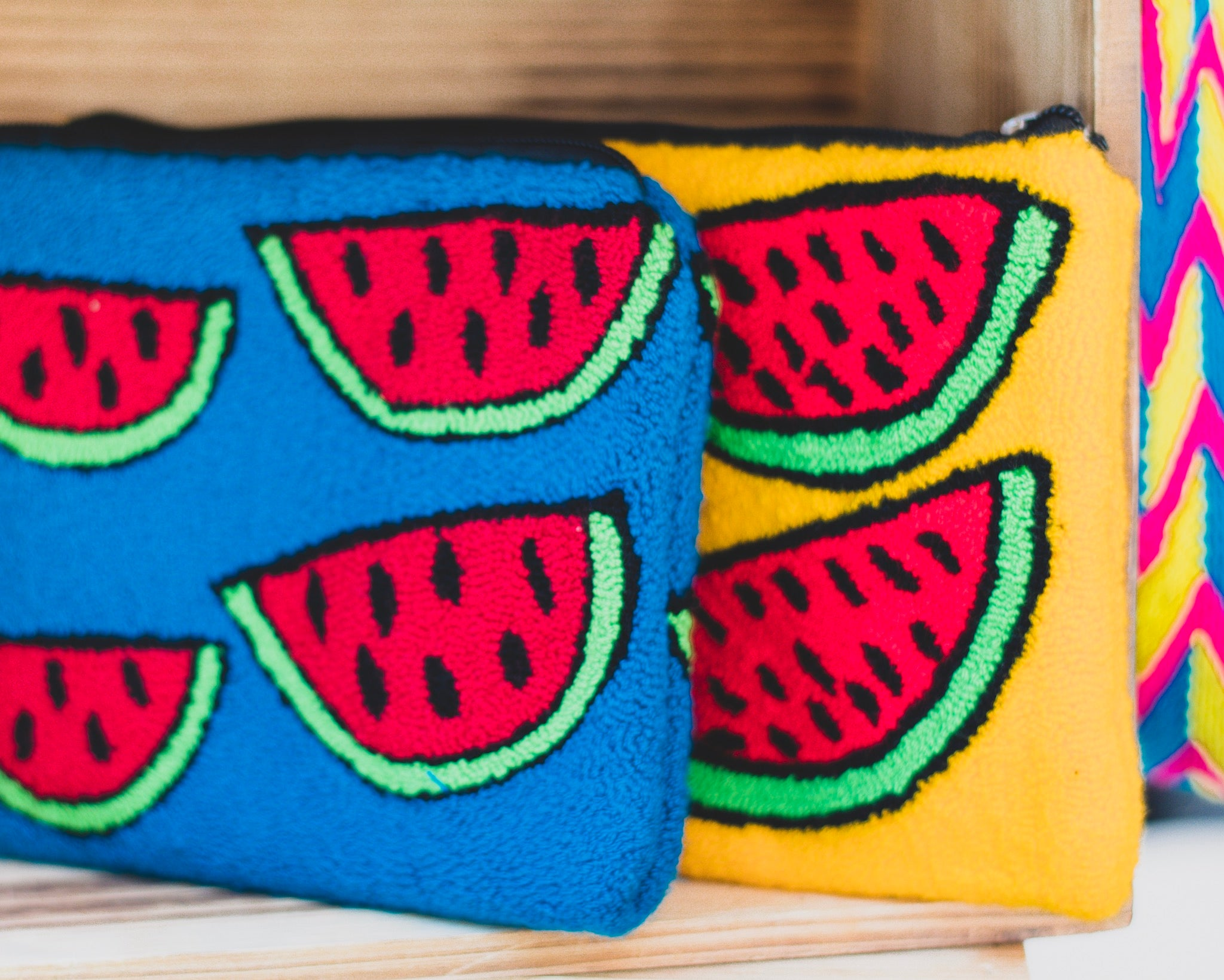 Wayuu Boho-Chic Clutch | Watermelon