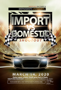 Import vs Domestic TrackDayz Time Attack March 14, 2020 ***