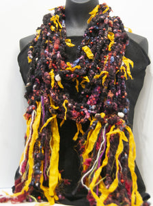 Dia de los Muertos: Textured Art Yarn Scarf - Not Your Grandma's Yarn