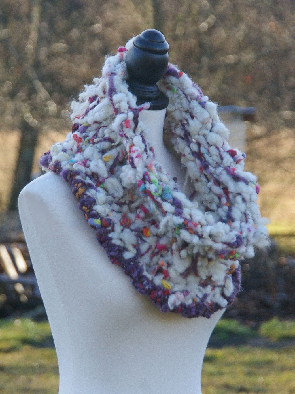 """Candyland"" Art Yarn Cowl - Not Your Grandma's Yarn"