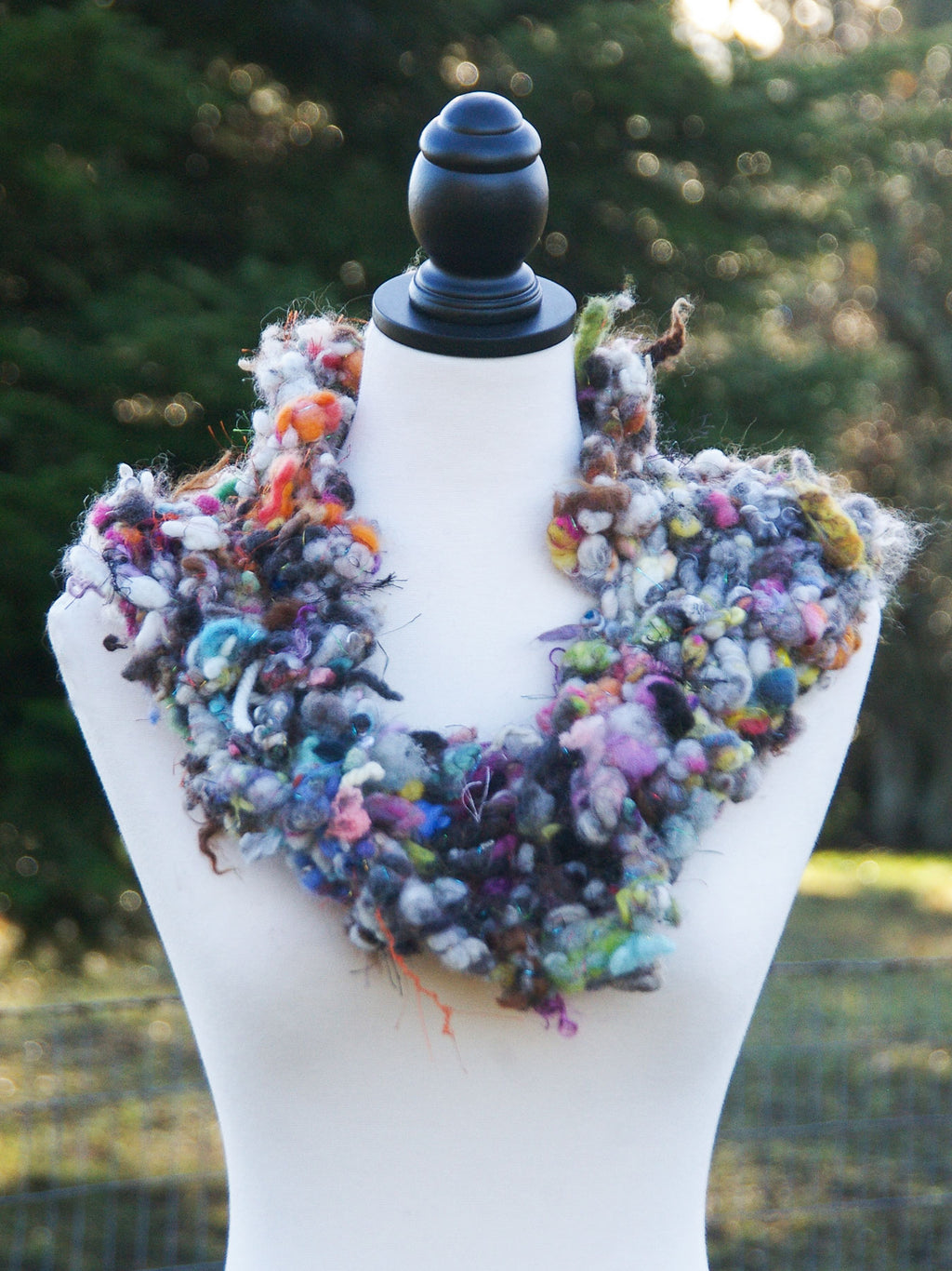 """Odds & Ends"" Art Yarn Cowl - Not Your Grandma's Yarn"