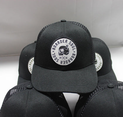 Trucker Black Soul Circle Snap Back Hat
