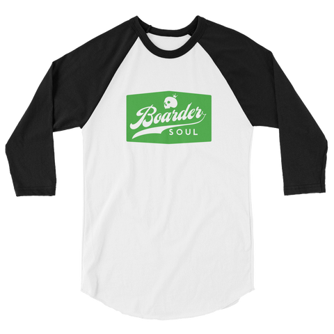 3/4 sleeve raglan baseball Boarder Shirt