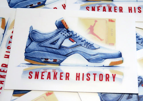 Sneaker of the Month - Levi's Jordan 4 Art Sticker