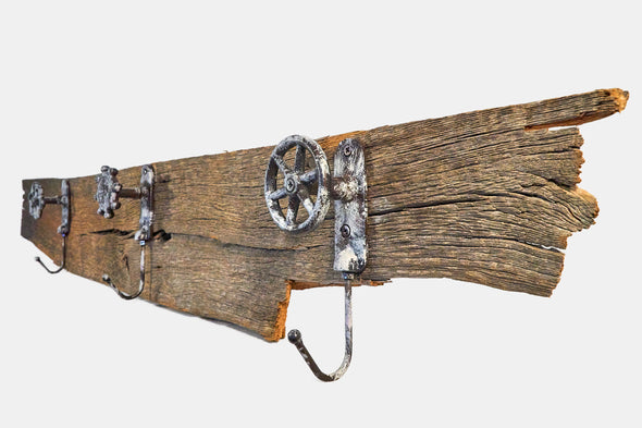 Reclaimed barn wood coat hanger