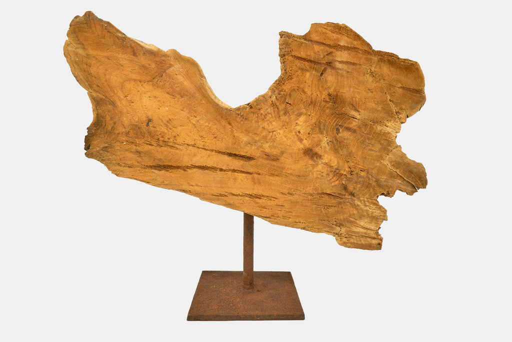 1970's Burnt Rippled Driftwood
