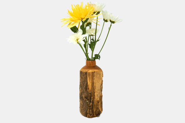 Locust wood natural vase