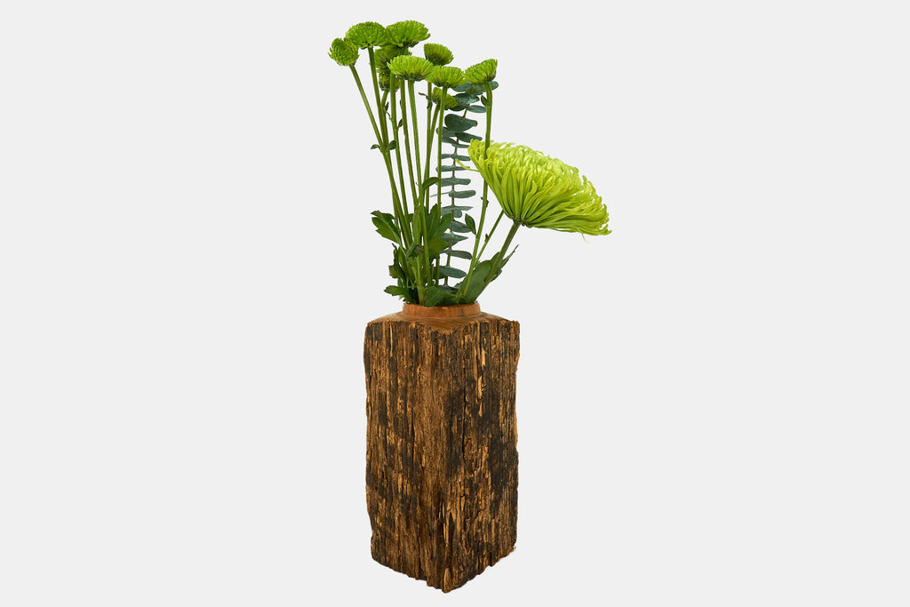 Locust Wood Triangle Vase
