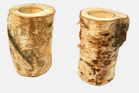 Birch Log Candle Set