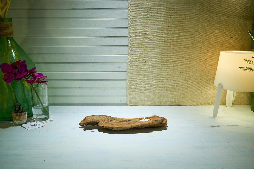 Driftwood Single Tea Light
