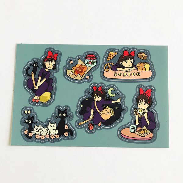 KIKI'S DELIVERY SERVICE sticker sheet