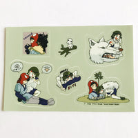 PRINCESS MONONOKE sticker sheet