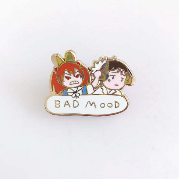 BAD MOOD enamel pin