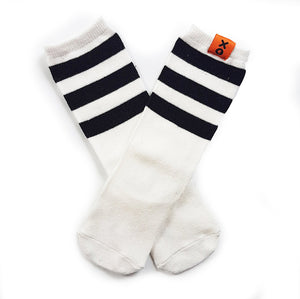 High White and Black Socks