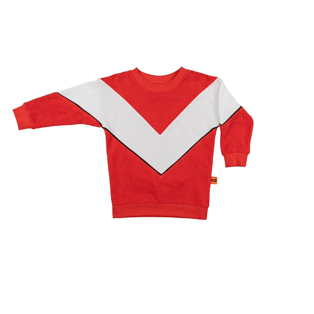 Red Organic Cotton Bold Arrow Kids Sweatshirt