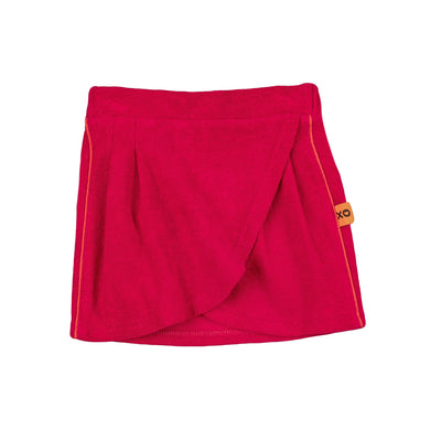Pink Towelling Wrap Skirt