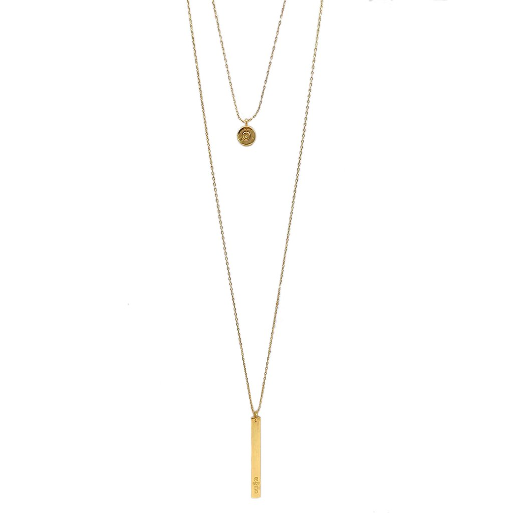 zzLayered Bar Bullet Necklace - The Boho Sophisticate