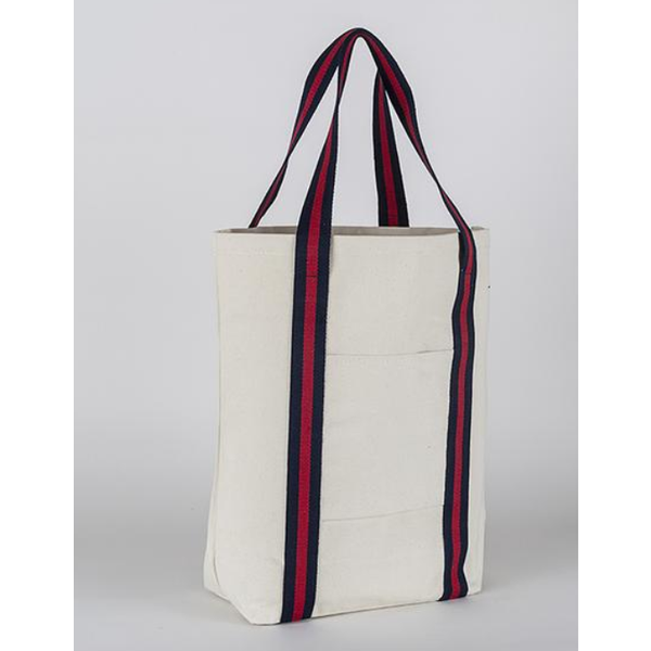 Strapping Canvas Shopper Tote Bag - The Boho Sophisticate
