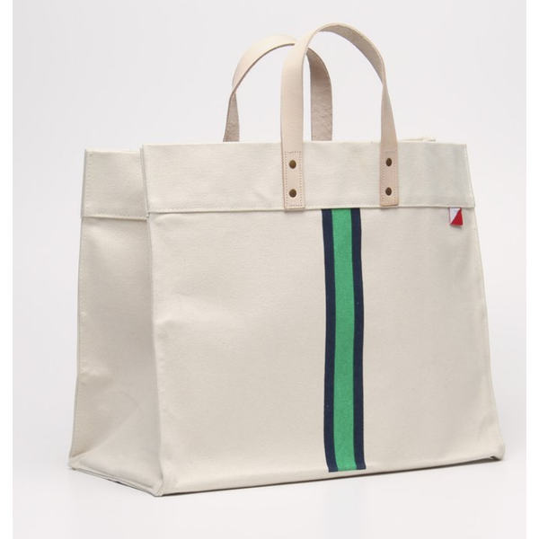 Striped Box Tote - The Boho Sophisticate