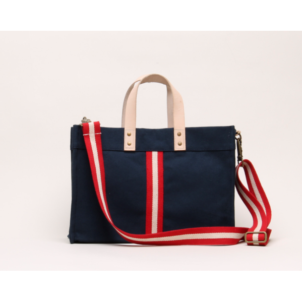 Mini Box Tote Navy - The Boho Sophisticate