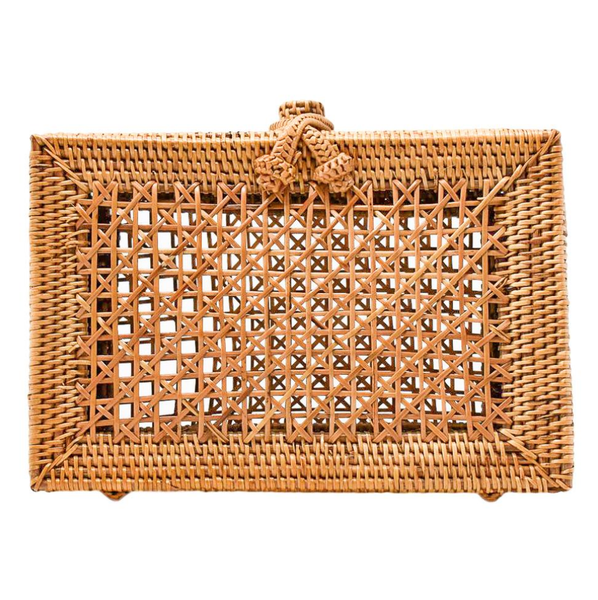 Evie Rattan Clutch - The Boho Sophisticate