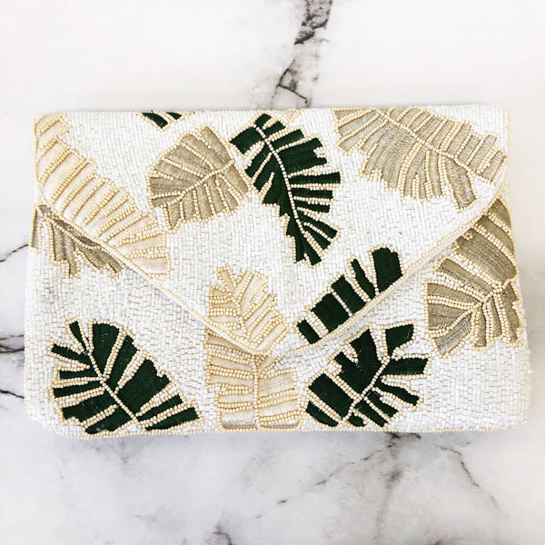 Beaded Palm Clutch - The Boho Sophisticate