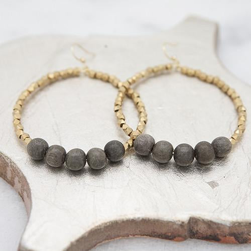ZzGolden Row Earrings - Gray - The Boho Sophisticate