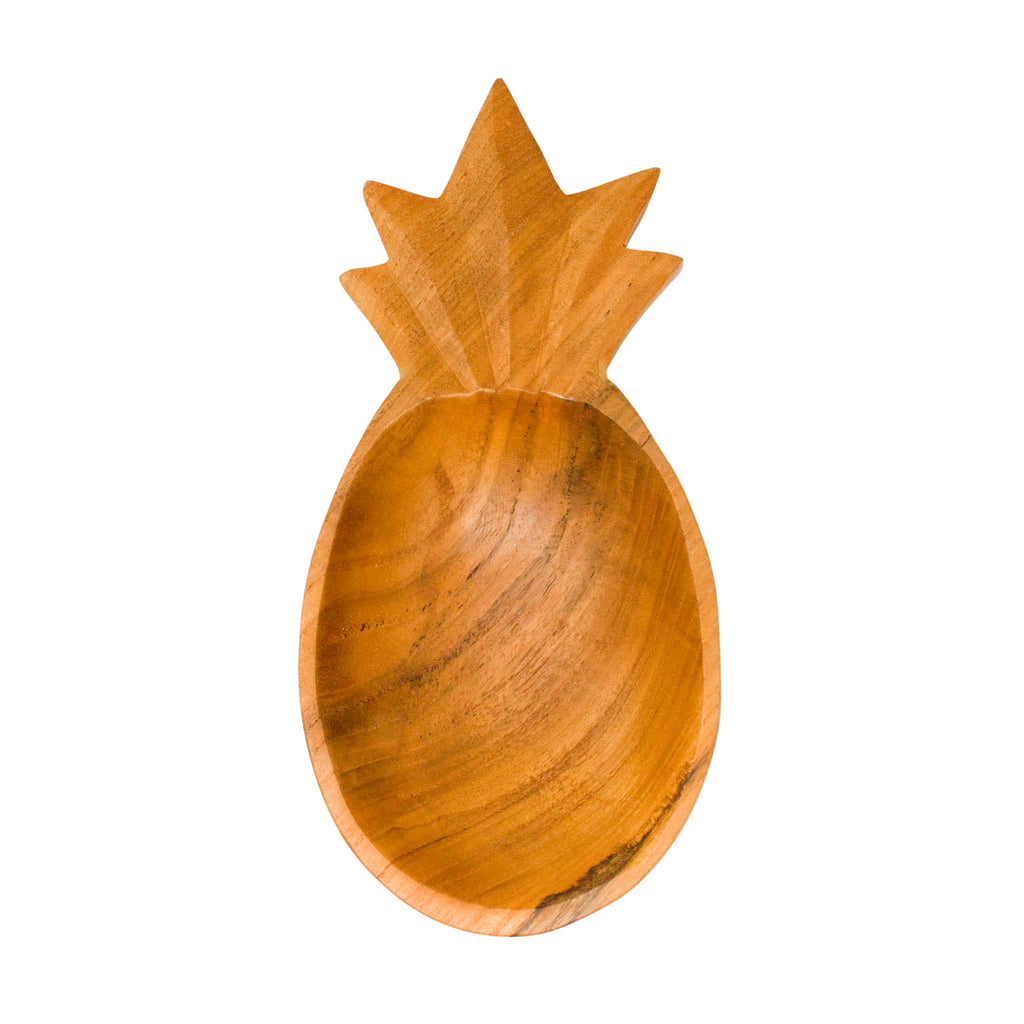 Pineapple Teak Bowl - The Boho Sophisticate