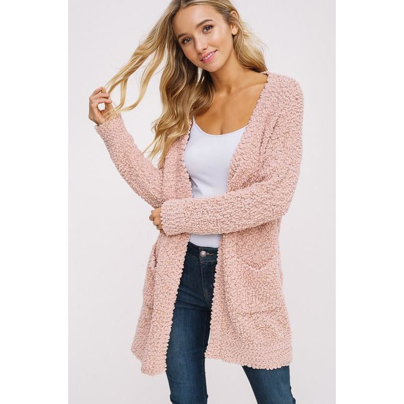 Cozy Popcorn Sweater (Blush, Mocha)