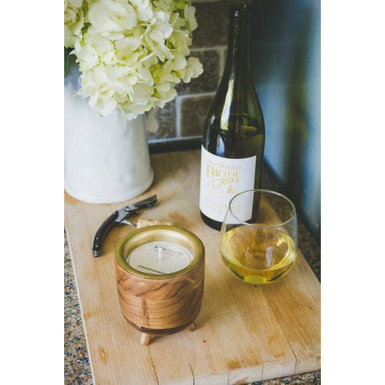 Rewined Chardonnay Barrel Aged Candle - The Boho Sophisticate