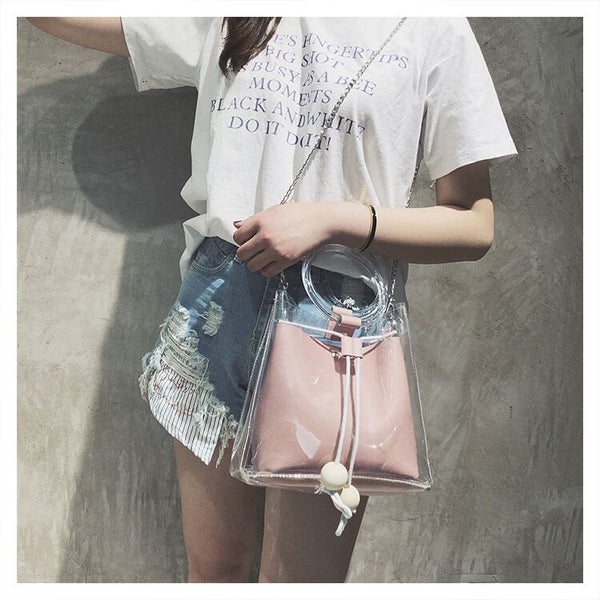 The Rachel Handbag - Clear Bag - Stadium Compliant - The Boho Sophisticate