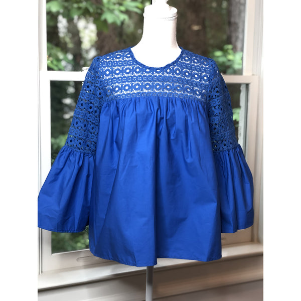 Blue Bell Sleeve Top - The Boho Sophisticate