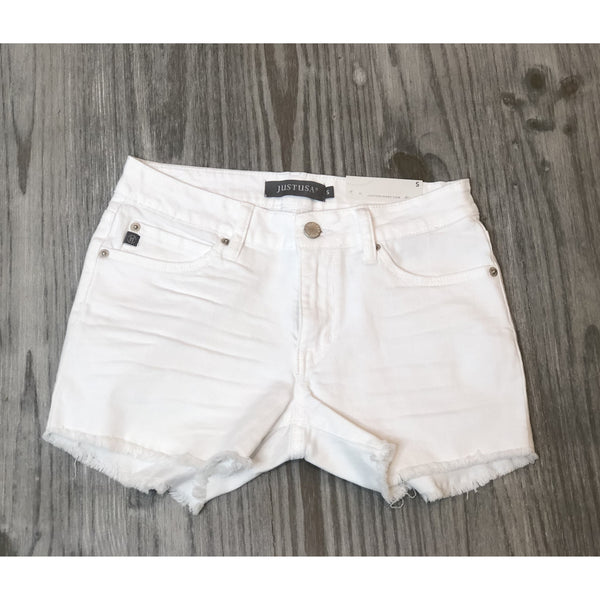 White Distressed Cutoff Shorts - The Boho Sophisticate