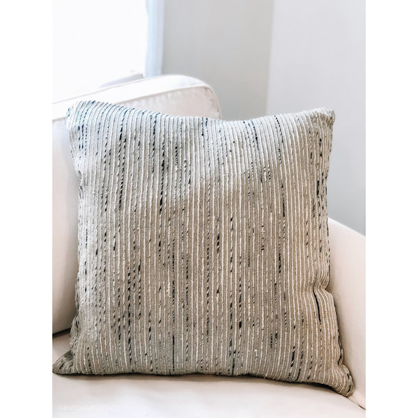 Silver Stripe Pillow - The Boho Sophisticate