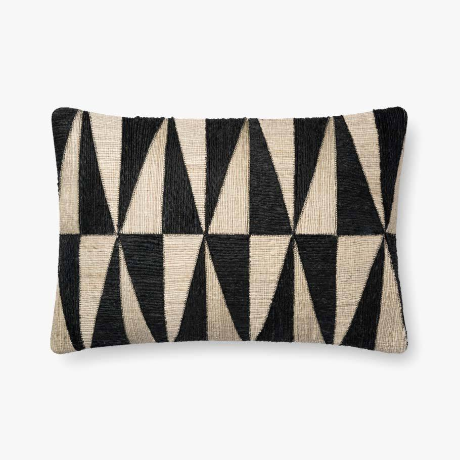 Black and Beige Diamond Pillow