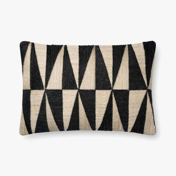 Black and Beige Diamond Pillow - The Boho Sophisticate