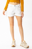 Jennie Distressed White Denim Shorts - The Boho Sophisticate