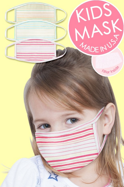 Kids' Cotton Masks - Various Colors - The Boho Sophisticate