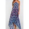 blue purple pink white handkerchief scarf tassel beach pool cover up dress