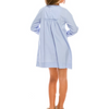 Elizabeth Dress - Girls' Embroidered Tunic Dress with Tassels (Lavender, Baby Blue)