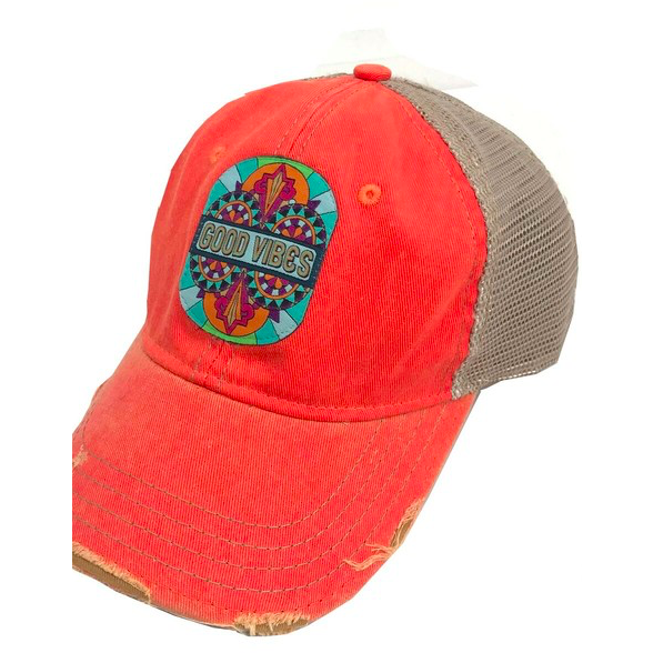 zzGood Vibes Trucker Hat - The Boho Sophisticate