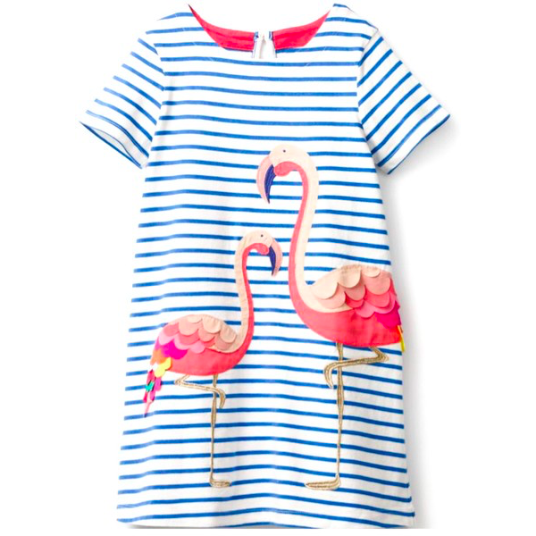 girls' playdress flamingos cotton