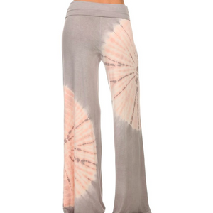 tie dyed fold over waist pants