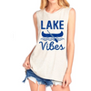 lake vibes tank blue and white