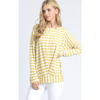 ZzGathered Striped Sweater Tee - The Boho Sophisticate
