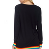 Good Vibes Long Sleeve French Terry Rainbow Shirt - The Boho Sophisticate